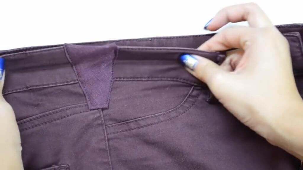 Как увеличить размер брюк своими руками 11