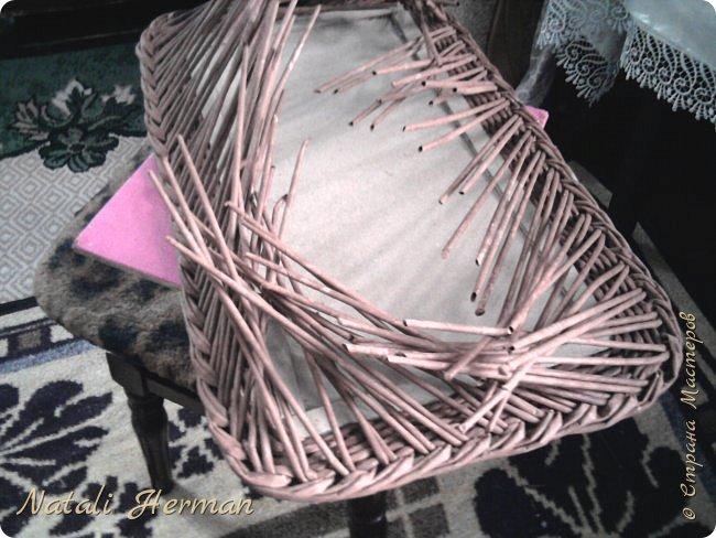 Мастер-класс Рама паспарту Плетение Рамочки Трубочки бумажные фото 5
