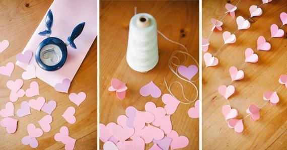 Гирлянда из бумаги своими руками схемы сердечки
