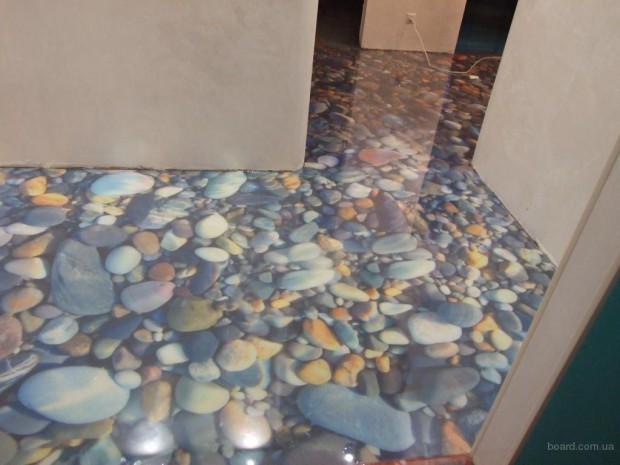 наливной пол в виде камней