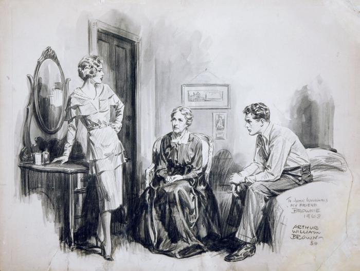Романтические ретро-иллюстрации. Автор: Артур Уильям Браун (Arthur William Brown).