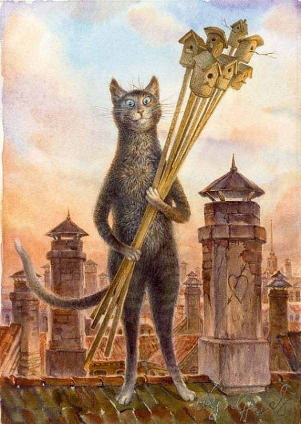 Имена художников для котов