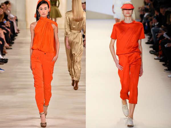 Модный мандариновый цвет весна-лето 2015