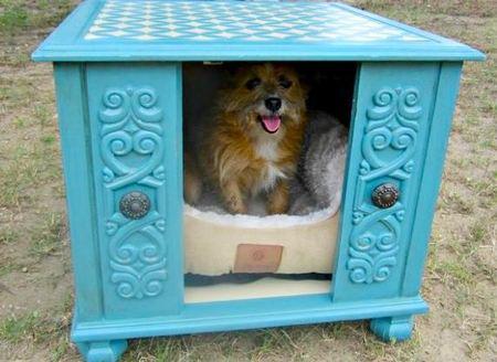 12 креативных домиков, которые хозяева сами сделали для своих собак фото 10