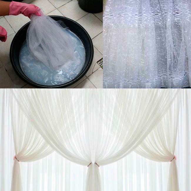 Как отбелить капроновую тюль в домашних условиях в стиральной машине