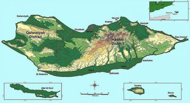 Скромные размеры острова