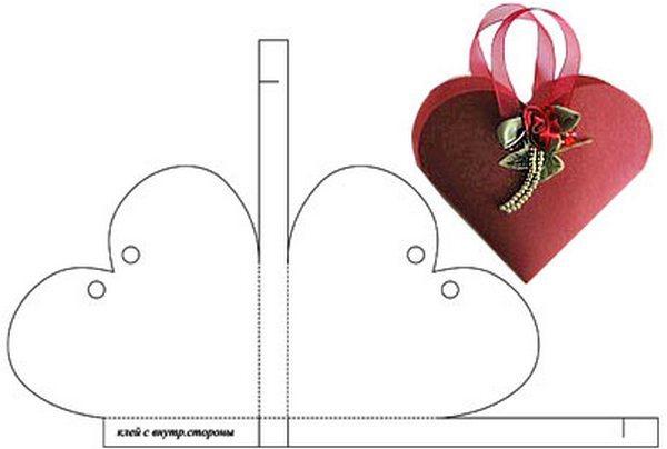 Как сделать подарочную сумочку из бумаги выкройка