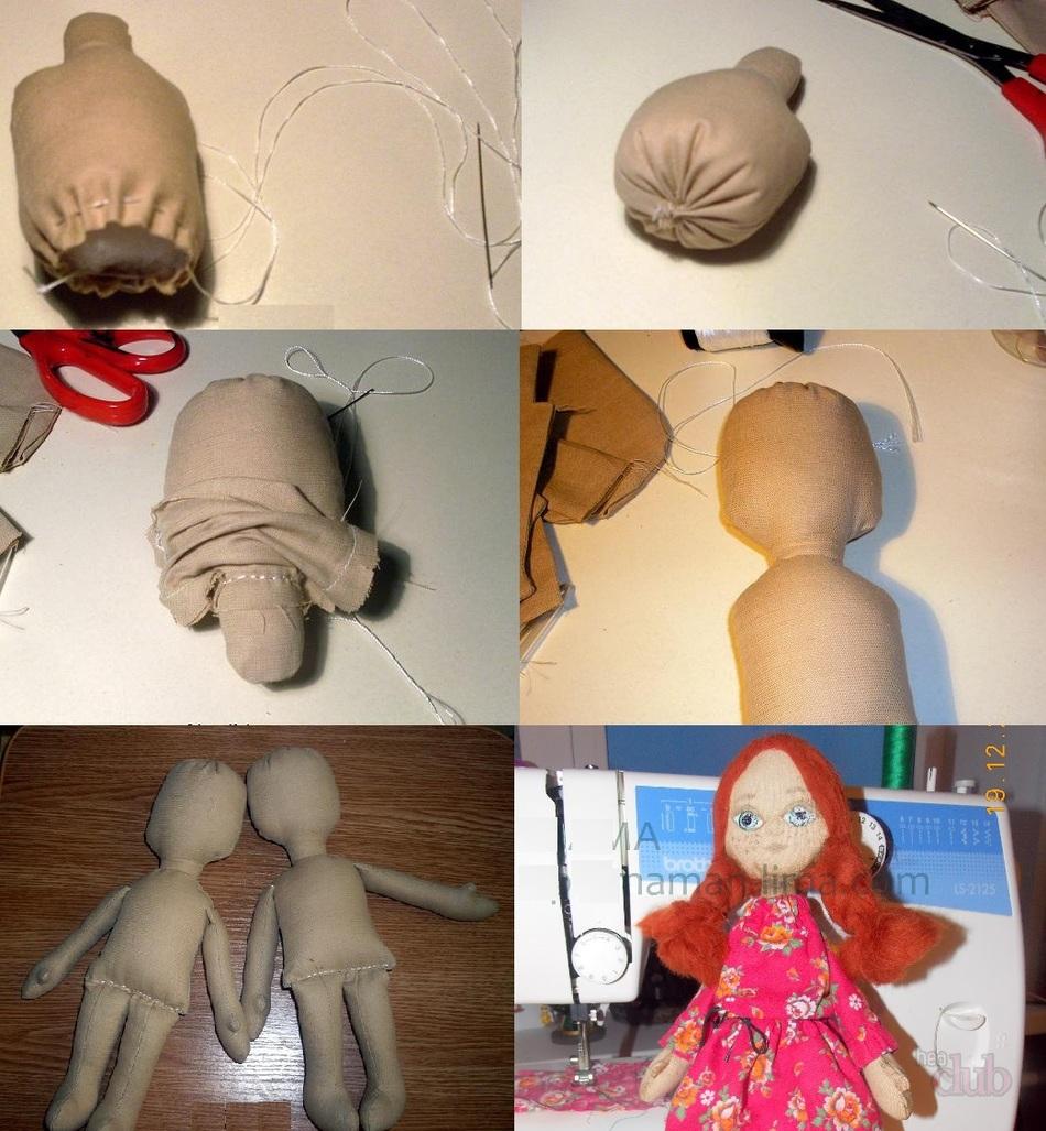 Кукла из синтепона и капрона своими руками мастер класс