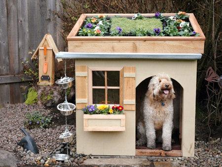 12 креативных домиков, которые хозяева сами сделали для своих собак фото 7