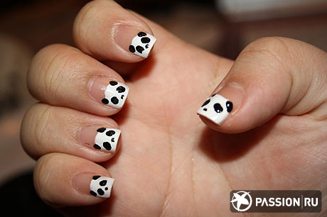 черно белый дизайн ногтей фото: