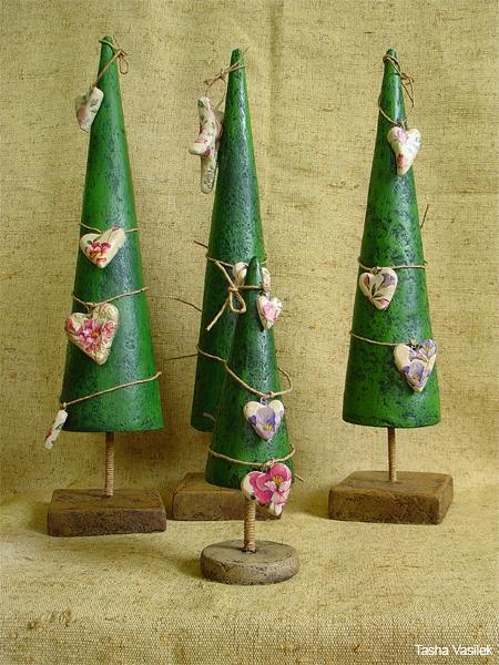 Поделки из папье-маше елка
