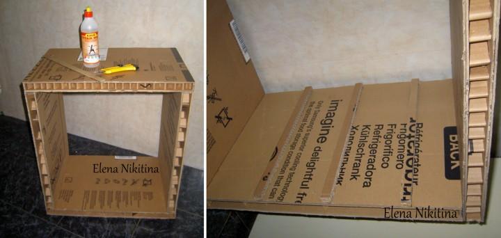 Как сделать комод из картона своими руками