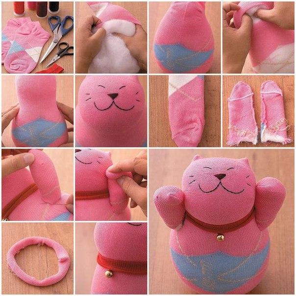 Как сделать игрушки из носка своими руками