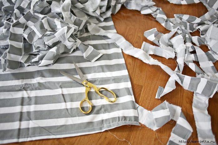 Как сделать полоски из ткани для 320