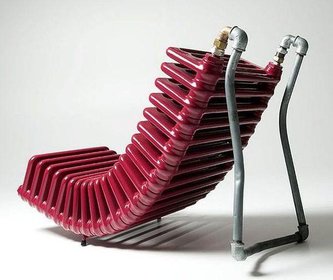 15. Кресло из радиатора креатив, переделка, своими руками