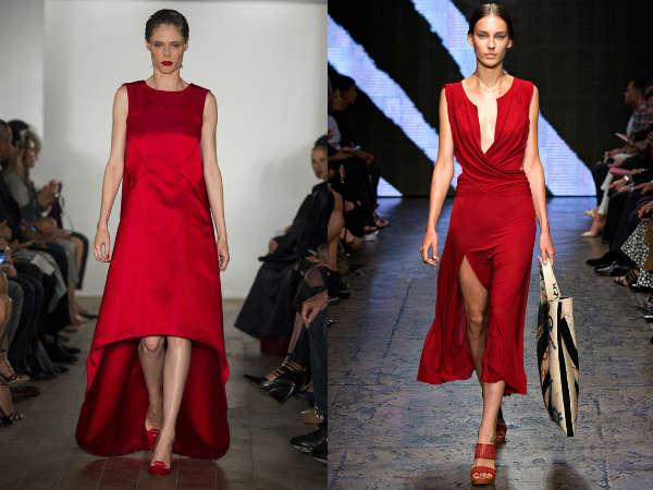 Модный красный цвет весна-лето 2015