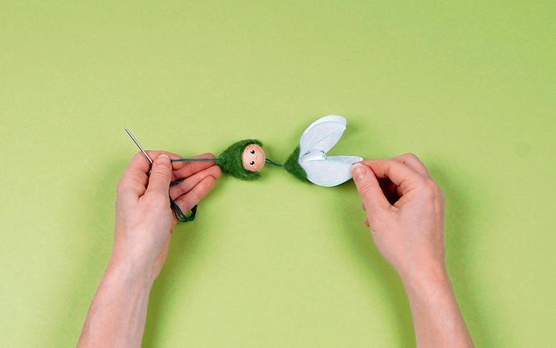 Как сделать подснежники из лент