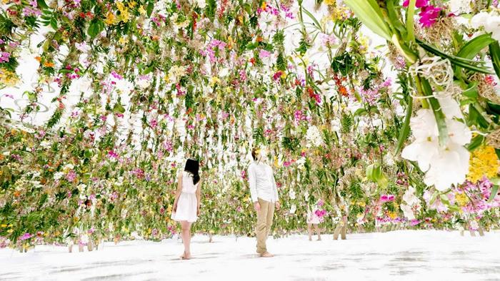 Парящий сад цветов.