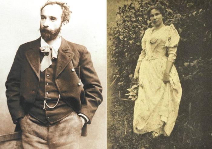Слева – И. Левитан, фото 1889 г. Справа – С. Кувшинникова, 1880-е гг.   Фото: persones.ru и liveinternet.ru
