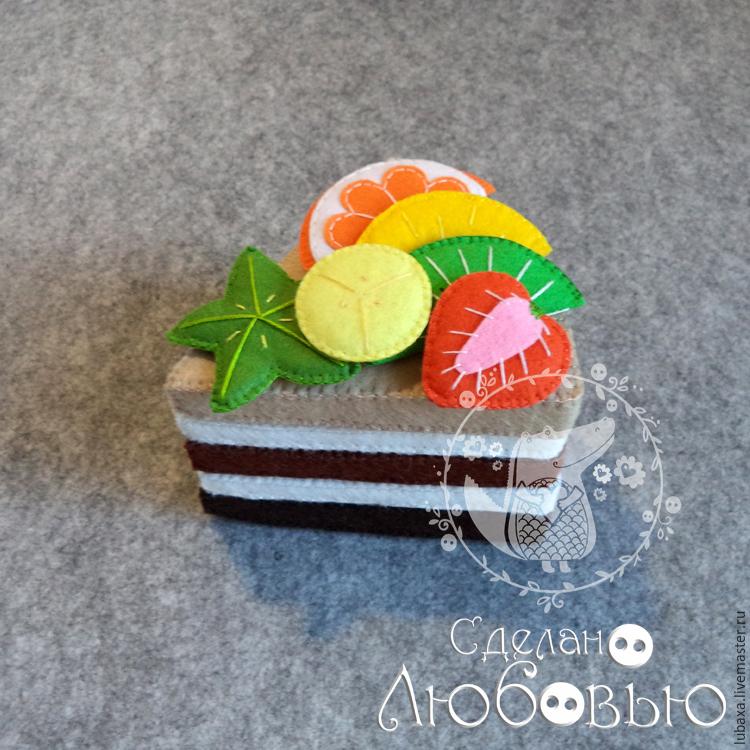 Поделки из фетра торт 92