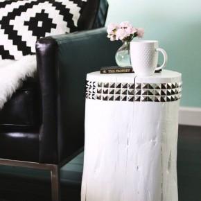декорированная тумба из пня