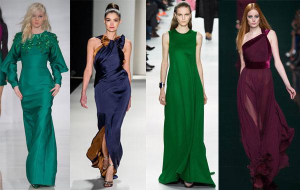Модные вечерние платья модные цвета