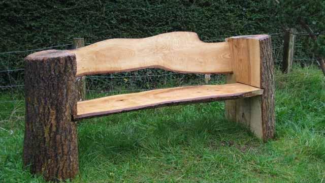 Скамейка своими руками из дерева видео