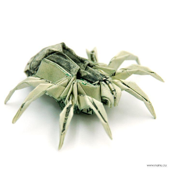 Оригами из денег.