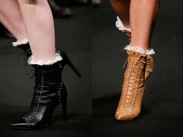 Модные ботильоны на шнуровке осень-зима 2015-2016