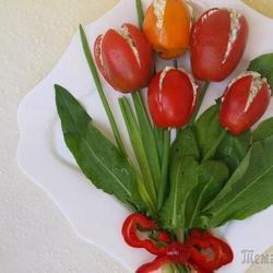 """Закуска """"Букет тюльпанов"""""""