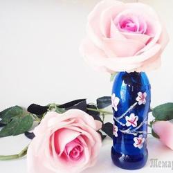Мастер класс: делаем вазу из стеклянной бутылки