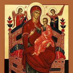 Икона Божией Матери, именуемая «Всецарица» («Панта́насса»)