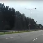 """Кирпич"" на автостраде"