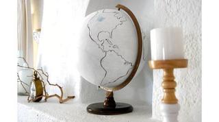 Винтажный глобус своими руками
