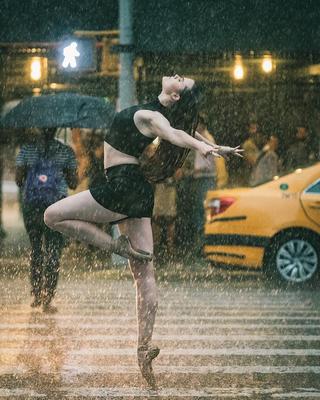Гипнотические фотографии известных танцоров балета, танцующих прямо на улицах