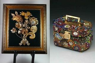 Мозаика и декор из бижутерии