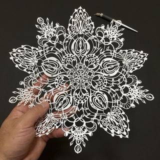 Бумажное кружево: тончайшие работы японского мастера
