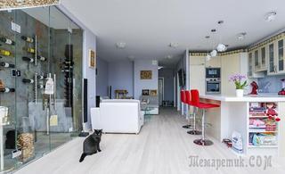 Современные двухэтажные апартаменты на Павелецкой