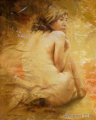 Корейская живопись. Чо Кын Ён - Cho Keun Young (조근영). Республика Корея. Акварель