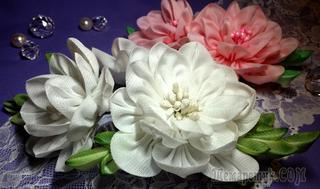 Цветы из ткани:камелия канзаши. МК
