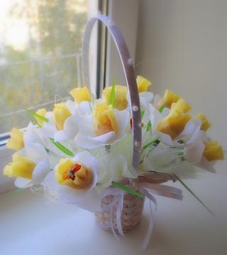 Нарцисс из конфет. Мастер-класс