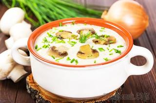 Грибной крем-суп из шампиньонов рецепт