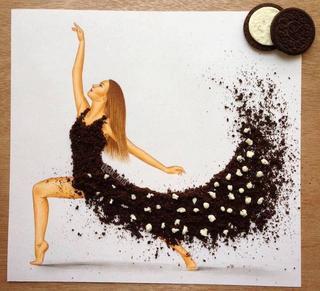 Платье из стручков фасоли и еще 9 оригинальных идей от талантливого иллюстратора