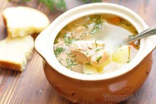 Суп из красной рыбы - Уха из форели рецепт