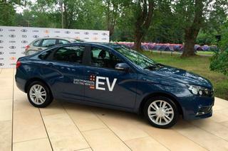 АвтоВАЗ показал электрическую Lada Vesta