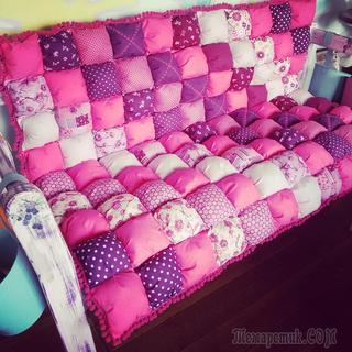 Милое зефирно-ягодное одеяло