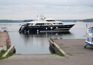 Личная яхта патриарха Кирилла.