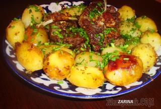 Баранина с картофелем  по-фергански или просто «Пирожок».!!!