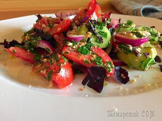 Овощной салат по грузински, или новый взгляд на обычный салат
