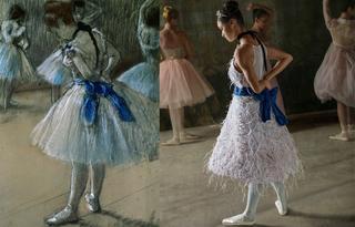 Балерина оживила картины известного импрессионист